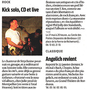 Kick : article Sud Ouest